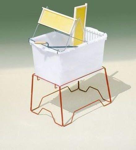 Banco para desopercular de plástico con soporte