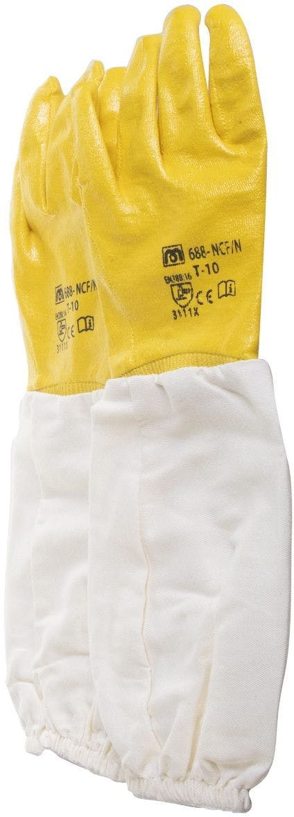 Eco nitrile glove with long cuff size 10