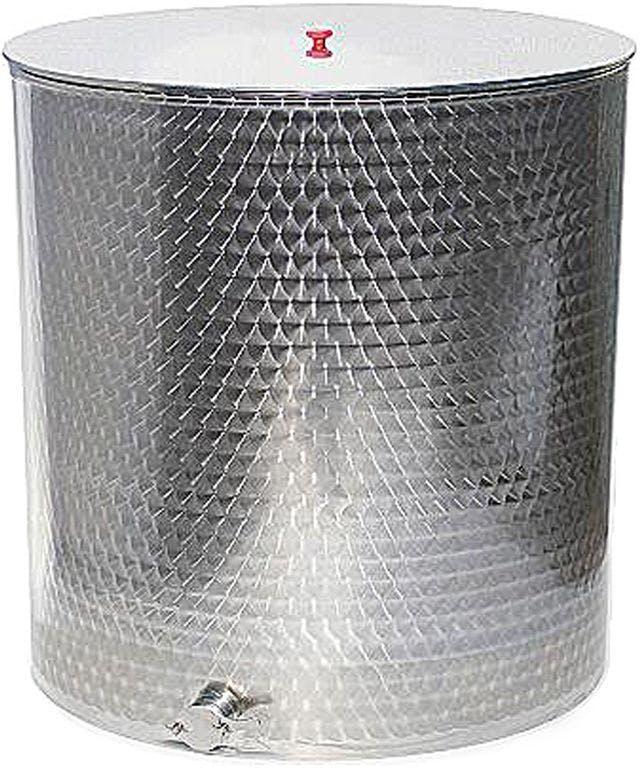 Madurador de 1000 kg para miel fabricado de acero inoxidable. Incluye grifo metálico y tapa.