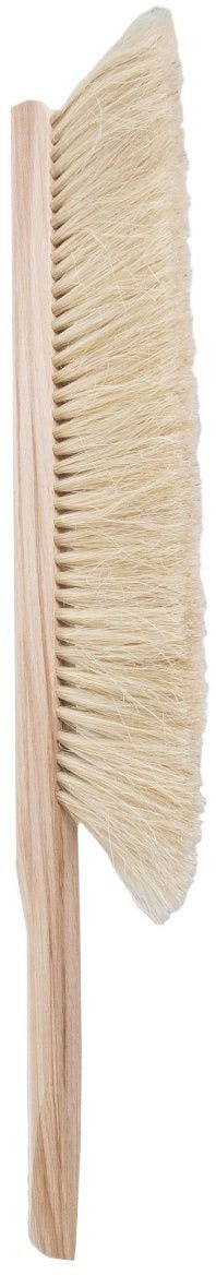 Bee brush with two rows of horse hair