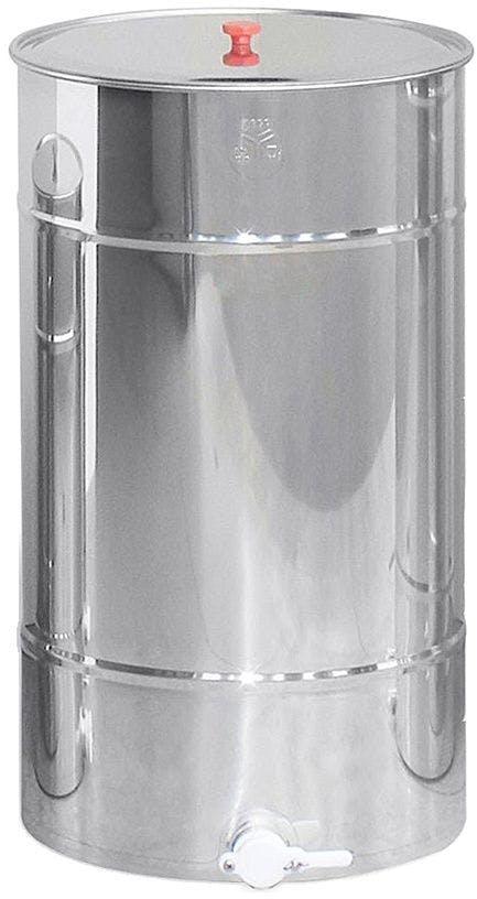 Madurador de 200 kg para miel fabricado de acero inoxidable. Incluye grifo de plástico y tapa.