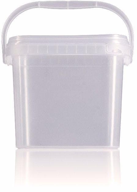 Rectangular plastic bucket 2,1 liters