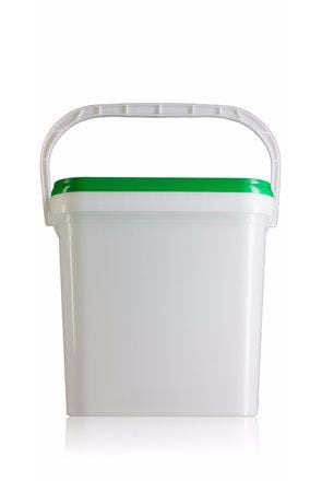 Rectangular plastic bucket 16 liters