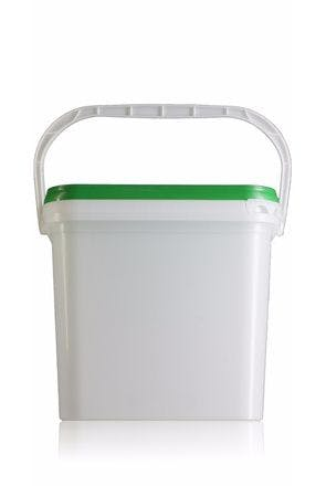 Rectangular plastic bucket 15 liters