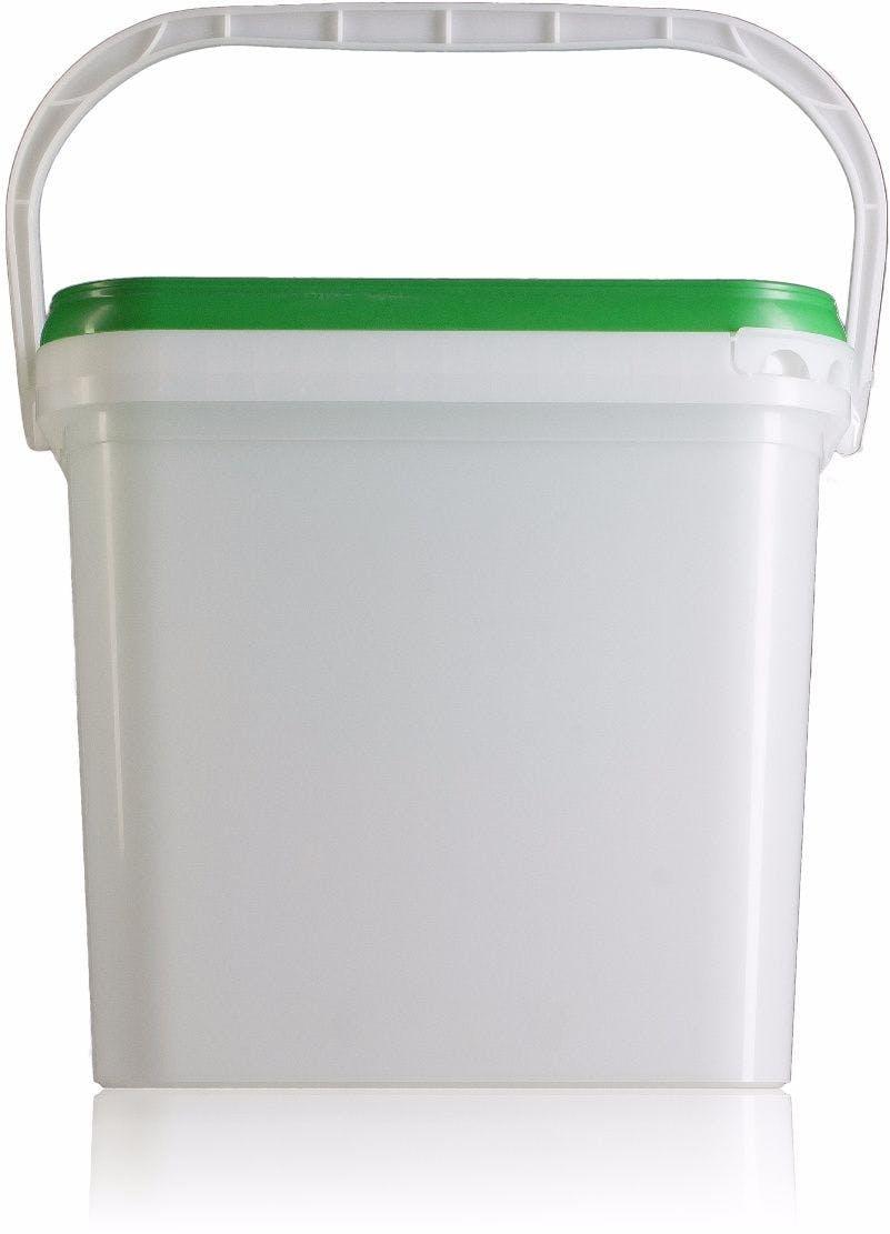 Balde retangular de plástico 15 litros