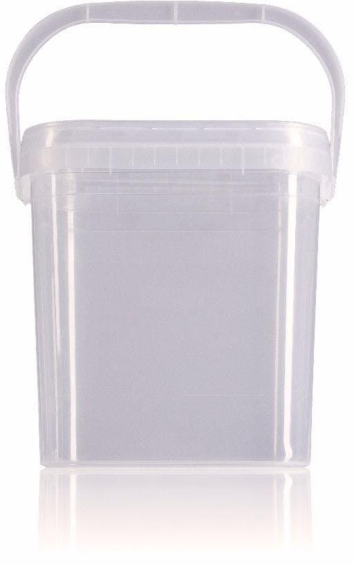 Rectangular plastic bucket 4,6 liters