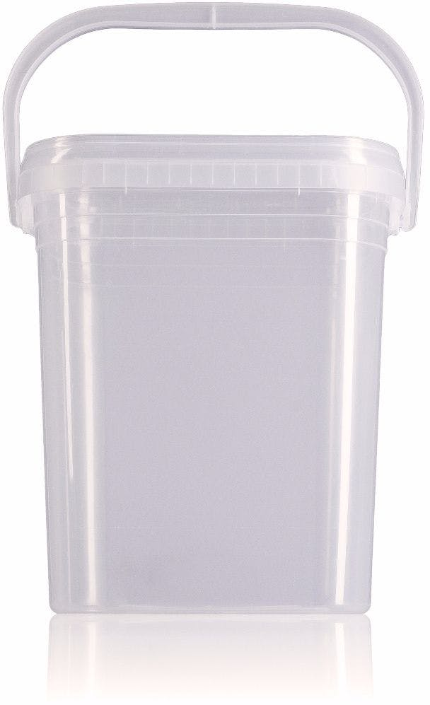 Rectangular plastic bucket 7,5 liters