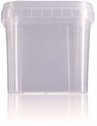 Balde retangular de plástico 1,2 litros