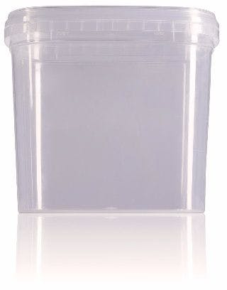 Rectangular plastic bucket 800 ml
