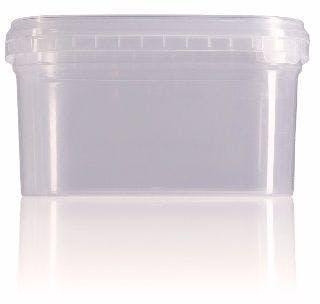 Tarrina de plástico rectangular 500 ml