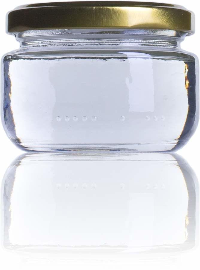 Excellent bocal en verre pour conserver les sauces et les confitures. Avec une capacité de 140 ml ( 4 onces ) et une couleur blanc en verre transparent .