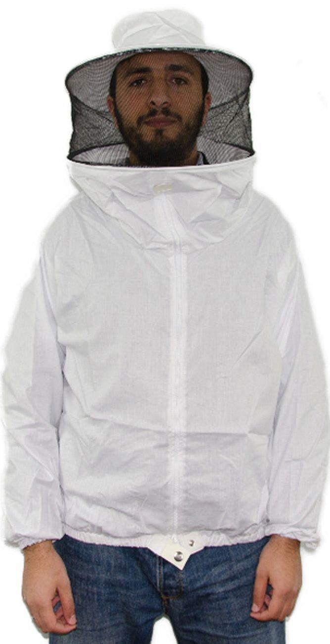 Blouse double en tissu blanc SP Taille XL
