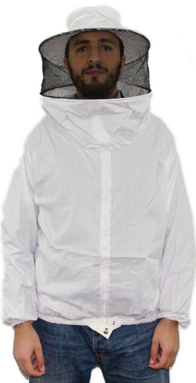 Blusón de tejido fino blanco sencillo SP Talla XL