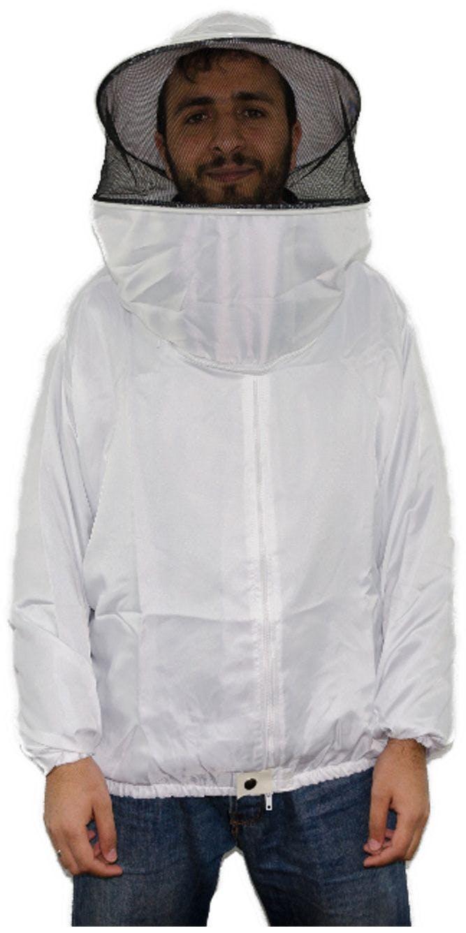 Blusa destacável em tecido fino branco liso SP tamanho XL