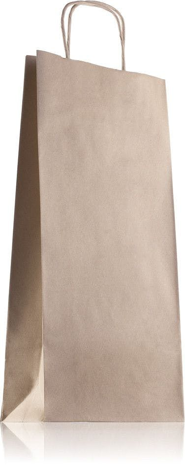 Kraft paper bag with handles 18 x 39 cm