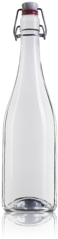 Bouteille en verre Mecano de 750 ml avec bouchon mécanique