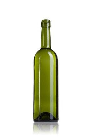 Bordalesa Seducción 75 BVS30 AV 750ml Rosca BVS30H60 Embalagem de vidrio Botellas de cristal bordalesas