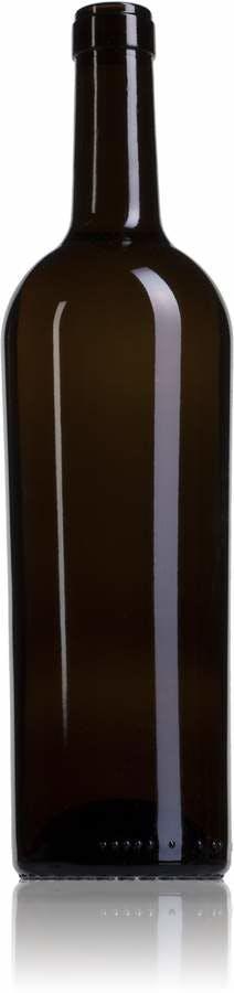 Bordalesa Vintage C300 75 NG 750ml Corcho STD 185 Embalagem de vidrio Botellas de cristal bordalesas