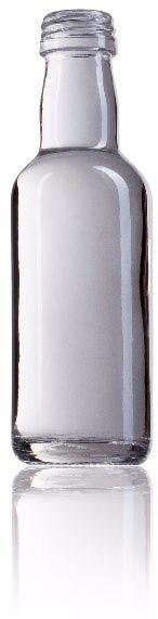 Lisa 5 CL cl 50ml envases de vidrio botellas de cristal y botellas de vidrio en miniatura