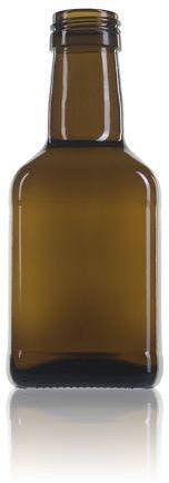 frasco de vidro quadrado para óleo Estefanía 250