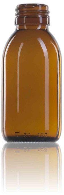 Topacio 100 ML PP28 Embalagens para laboratório e farmácia Garrafas frascos de vidro cristal para laboratório