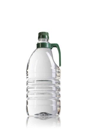 PET bottle  2000 ml with green handle finish neck 36/29 bottle PET