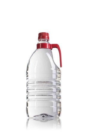 Botella PET 2000ML con asa rojo boca 36/29 -envases-de-plastico-botellas-de-plastico-pet