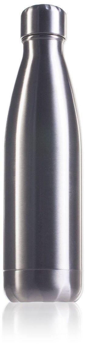 Garrafa térmica de aço inoxidável prata de 500 ml