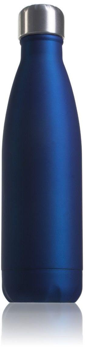 Garrafa térmica de aço inoxidável azul de 500 ml