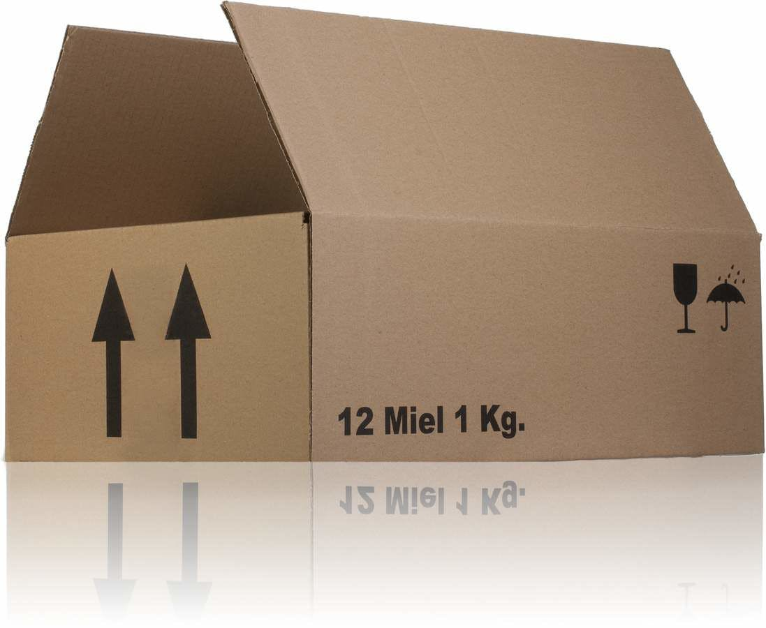 Carton box single channel 39 x 29 x 13 Miel 1Kg x 12 MetaIMGIn Cajas de carton