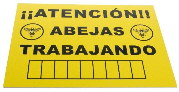 Cartel de señalización