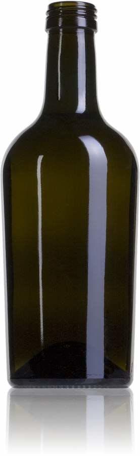 Cubana 500 VE boca Rosca SPP (A315)-envases-de-vidrio-botellas-de-cristal-aceites-y-vinagres