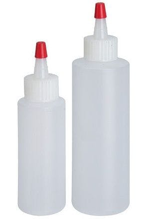 Lot de 2 bouteilles en plastique translucide pour sauces 60 et 120 ml
