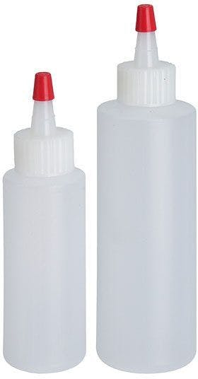 Set of 2 translucent plastic bottles for 60 and 120 ml sauces