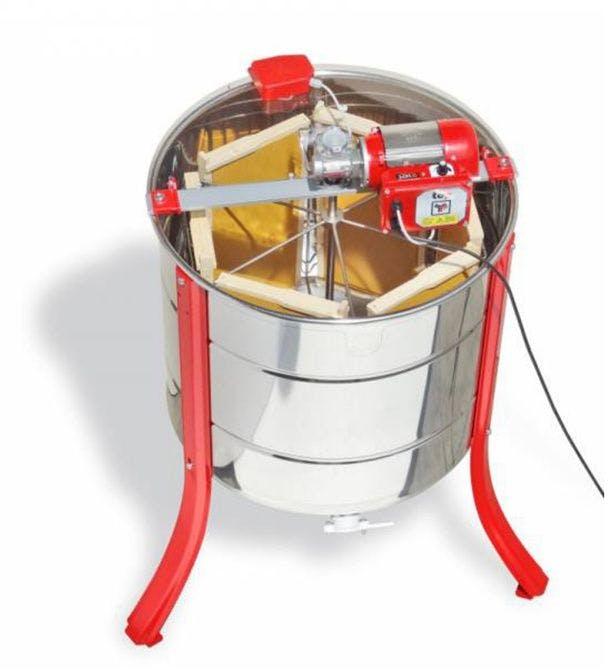 Extrator de mel tangencial para 6 cuadros Langstroth Lega