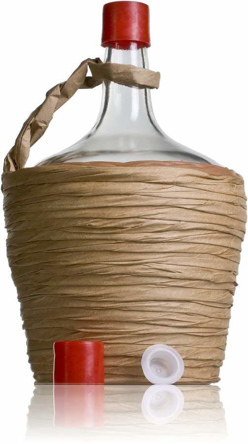 bonbonne dame jeanne en verre avec bouchon 2000 ml