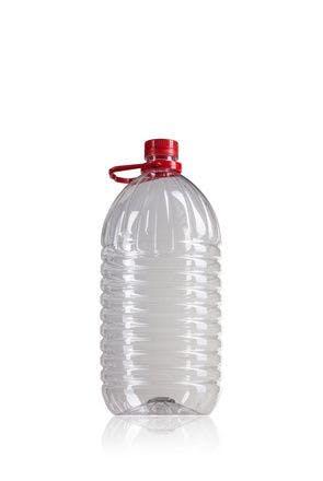 Bouteille PET 5000 ml avec poignée rouje bouche 42/34 bouteille de plastique