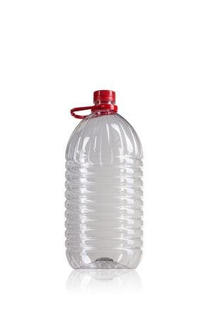 Botella PET 5000 ML con asa rojo boca 42/34  Embalagem de plástico Garrafas de plástico PET