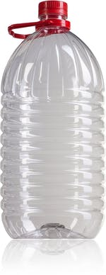 PET bottle 5000 ml with red handle  finish neck  PET 42/34