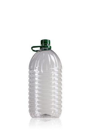 Bouteille PET 5000 ml avec poignée vert bouche 42/34 bouteille de plastique