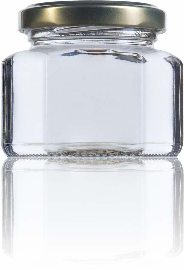 Hexa 106-106ml-TO-053-envases-de-vidrio-tarros-frascos-de-vidrio-y-botes-de-cristal-para-alimentación