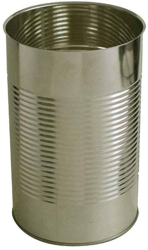 Cylindrical metal tin 5 Kg 4340 ml Gold / Gold standard
