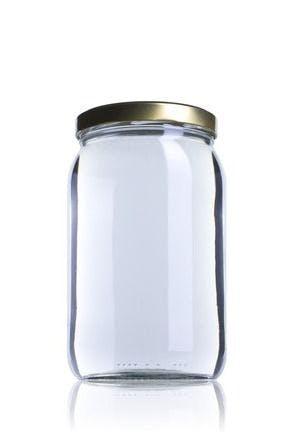 Medio GALON 1966ml TO 110 Embalagens de vidro Boioes frascos e potes de vidro para alimentaçao