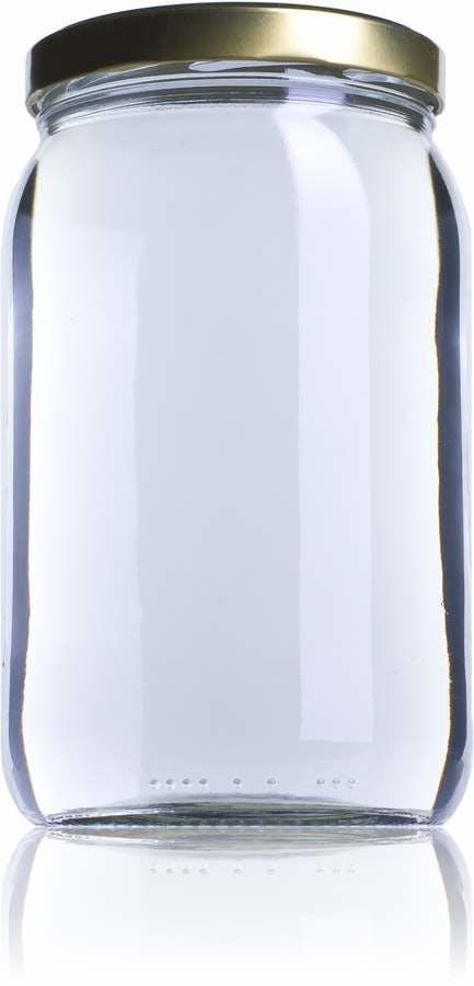 Medio Galón-1966ml-TO-110-envases-de-vidrio-tarros-frascos-de-vidrio-y-botes-de-cristal-para-alimentación