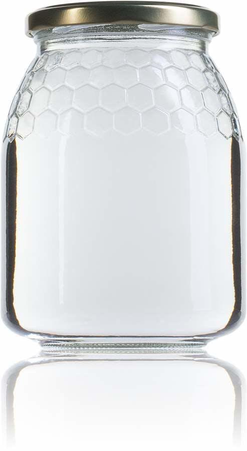 Miel 1 Kg 4 celdillas 746 ml TO 077 MetaIMGFr Tarros, frascos y botes de vidrio
