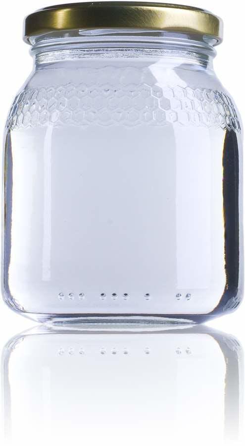 Miel Std 0.5 KG-385ml-TO-066-Miel-0.5Kg-envases-de-vidrio-tarros-frascos-de-vidrio-y-botes-de-cristal-para-alimentación