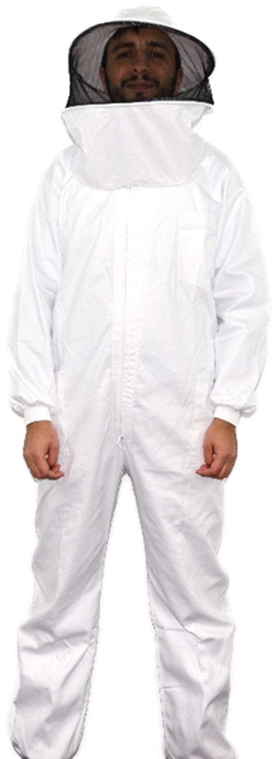 White Tergal beekeeping full suit size 66 with detachable mask