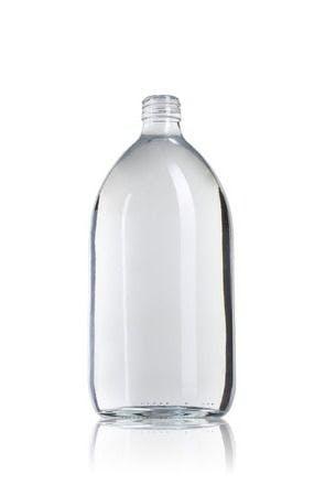 Ocean 1000 ML PP28 Embalagens para laboratório e farmácia Garrafas frascos de vidro cristal para laboratório