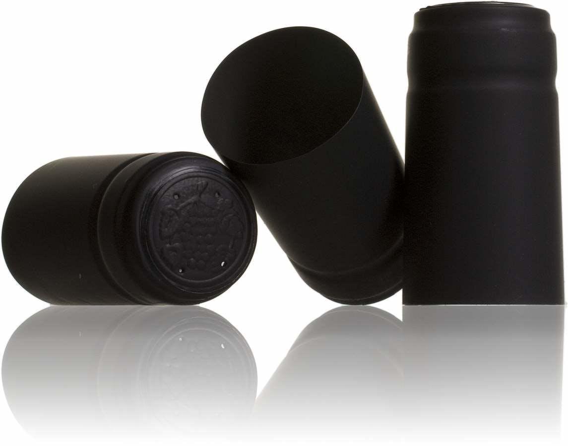 Precinto botella de vino Negro-sistemas-de-cierre-tapones