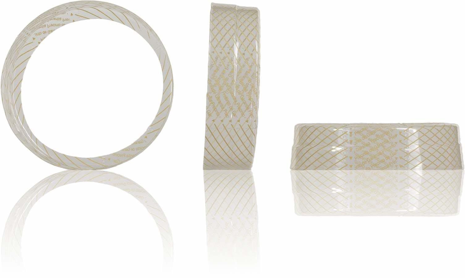 Selo retractil de garantia para tampa Twist Off 077 Sistemas de fecho Tampas